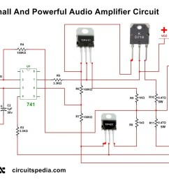audio amplifier circuit using transistors [ 1295 x 877 Pixel ]