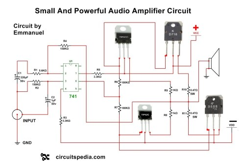 small resolution of 4558 ic circuit diagram audio power amplifier amplifier circuitaudio amplifier circuit using transistors