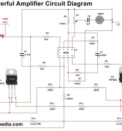 4558 powerful audio amplifier circuit [ 1134 x 698 Pixel ]