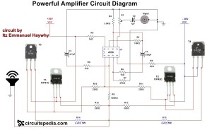 How to make Audio power Amplifier Circuit  Electronic