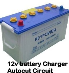 12v battery charger 12v battery charger with auto cut off circuit diagram [ 1280 x 720 Pixel ]