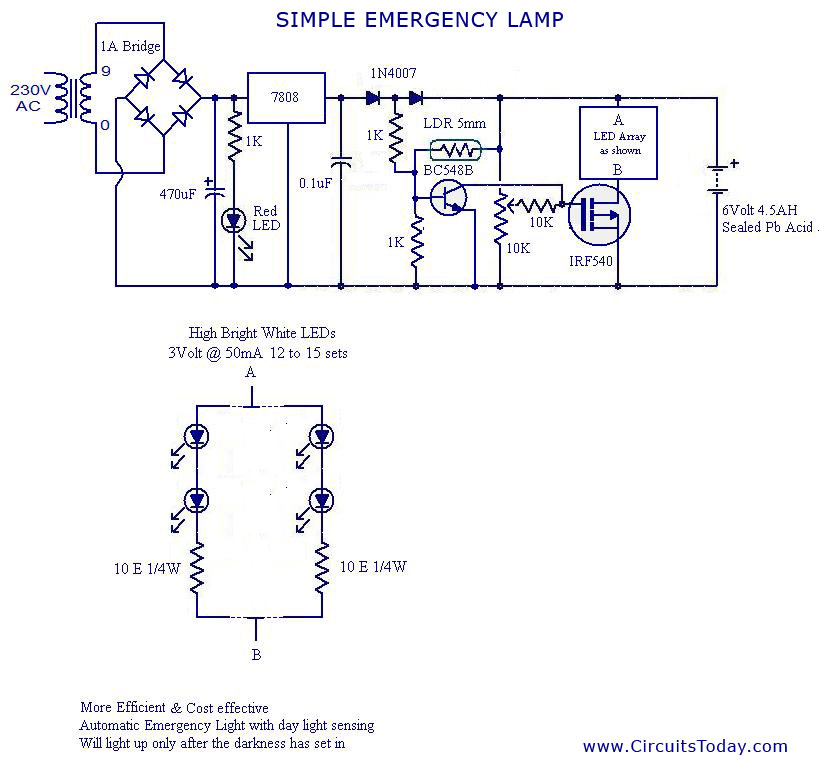 led light circuit diagram for dummies clipsal saturn intermediate switch wiring automatic emergency simple