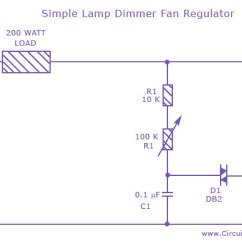 Wiring Diagram Of A Ceiling Fan And There Labeled Microscope Parts For What Simple Lamp Dimmer Regulator Circuit Using Triac