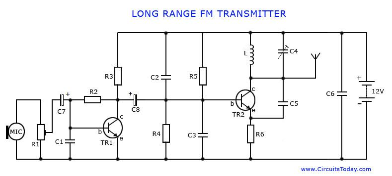 fpv transmitter wiring diagram pioneer super tuner iii d circuit general data long range fm rh circuitstoday com am tv