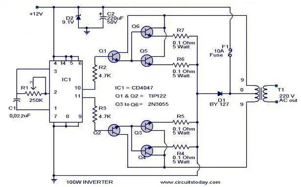 100 w inverter circuit?resize=615%2C382 inverter wiring diagram manual wiring diagram inverter wiring diagram manual at soozxer.org