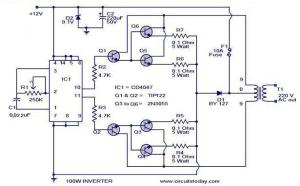 100 Watt InverterCircuit Diagram, Parts List & design Tips