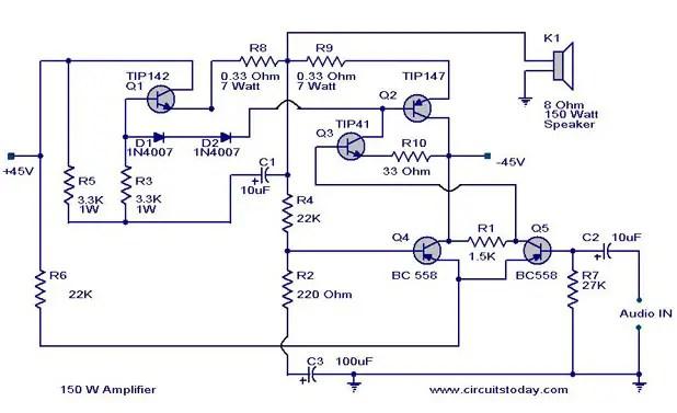 5000 watt amplifier circuit diagram car wiring diagrams uk watts schematic manual e books power diagramamplifier schema 150