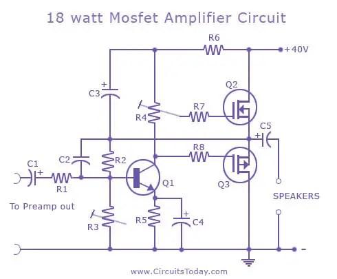 2n 12v Wiring Diagram Popular Mosfet Audio Amplifier Circuits Circuit Diagrams