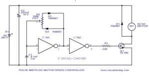 PWM Motor Speed Control Circuit with Diagram for DC Motor