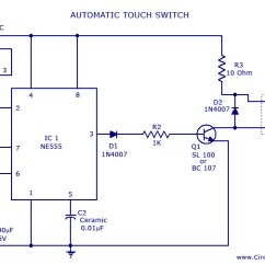 Wiring Connection Diagram 4 Wire Electric Motor Switch Circuit Place Foneplanet De Touch Using Ne 555 Ic Rh Circuitstoday Com Clap
