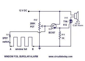 Burglar Alarm Circuit and ProjectsDIY