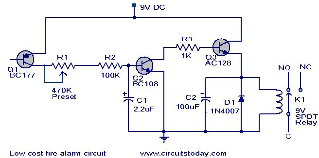 fire alarm schematic diagram typical thermostat wiring low cost circuit working scematic alarrm jpg