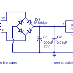 Fire Alarm Schematic Diagram Volvo Wiring Color Codes Simple Circuit Using Ldr 9v Power Supply
