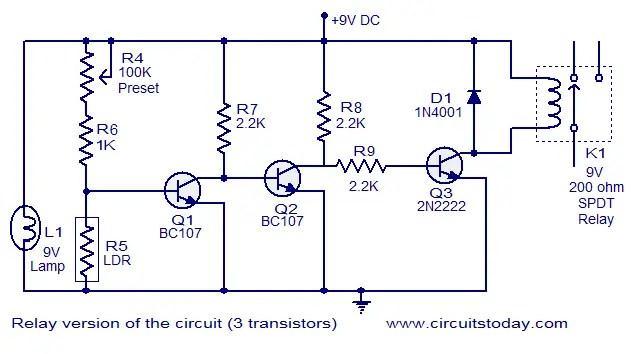 digital temperature controller circuit diagram 2002 nissan xterra car stereo wiring simple fire alarm using ldr relay