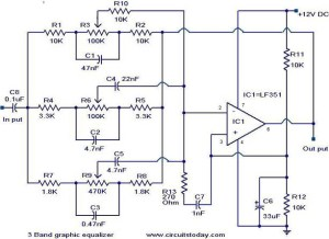 3 Band graphic equalizer circuit  Electronic Circuits