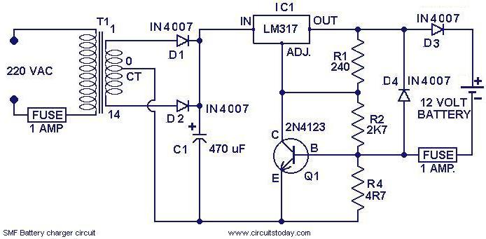 36 Volt Fork Lift Battery Charger Wiring Diagram Chager Circuit For Smf Batteries Electronic Circuits