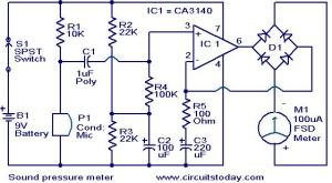 Sound pressure meter  Electronic Circuits and DiagramsElectronic Projects and Design