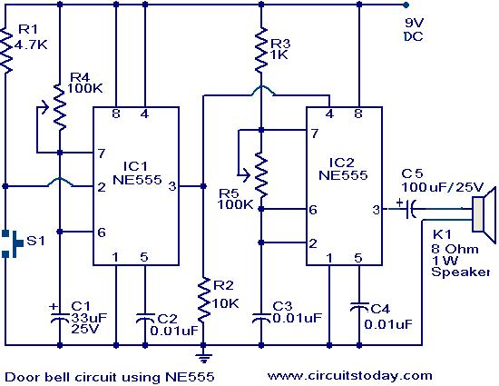 water level indicator project with circuit diagram itil problem management process flow door bell using ne555 | todays circuits ~ engineering projects