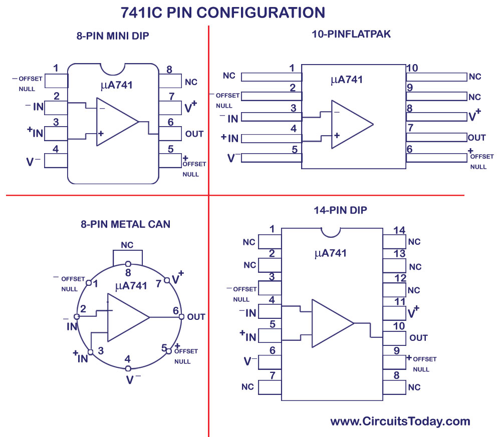 Circuit Diagram Of 741 Op Amp Operational Amplifier Circuits Fm Modulator Tradeoficcom Hight Resolution Ua741 Ic Pin Configuration