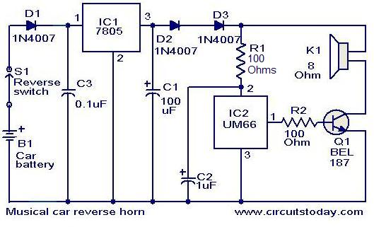 wiring diagram of a car horn tekonsha primus iq musical reverse circuit electronic circuits and diagrams