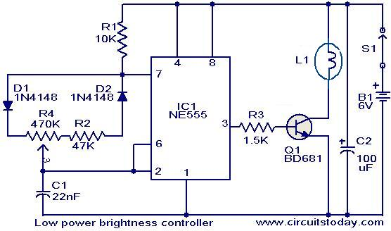 Ceiling Fan Light Dimmer Switch Wiring Diagram Brightness Controller For Low Power Lamps Electronic