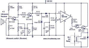 Ultrasonic switch  Electronic Circuits and Diagrams