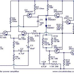 Audio Amplifier Circuit Diagram With Layout 2005 Jeep Liberty Headlight Wiring 100 Watt Sub Woofer Working And W Subwoofer