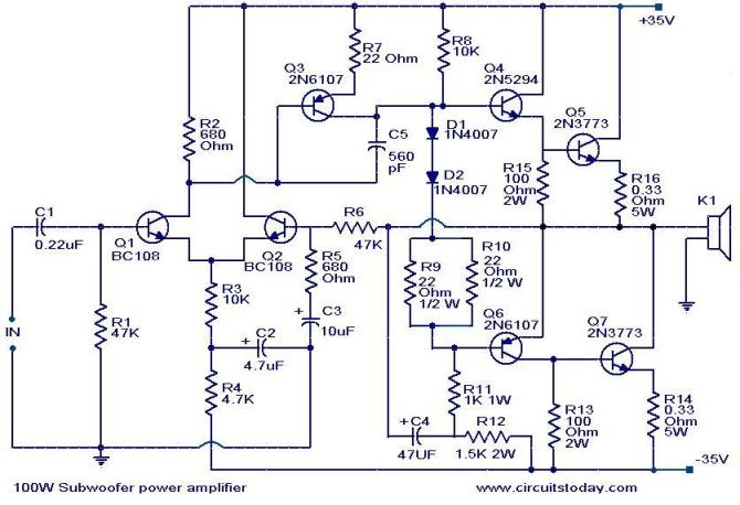subwoofer schematic diagram  wire center •