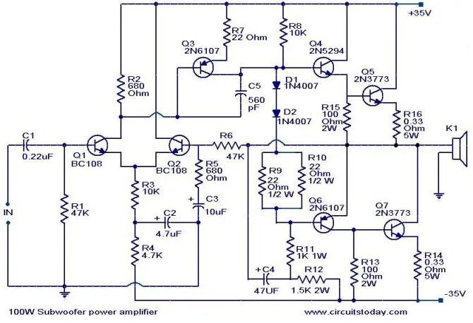 car audio amplifier circuit diagram  idokeren