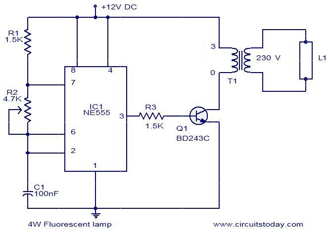 Wiring Diagram Of Fluorescent Lamp