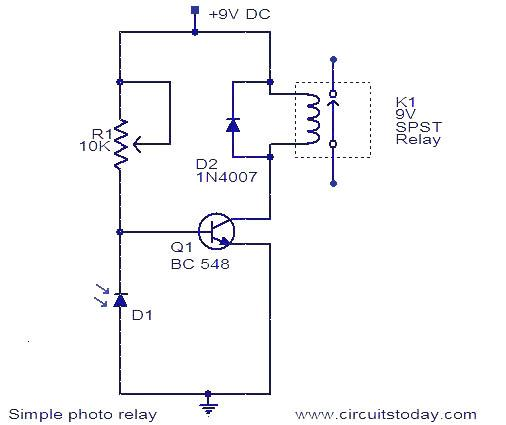 Photo Relay Circuit Electronic Circuits And Diagram Electronics