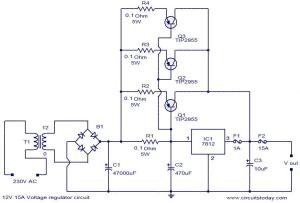 12V 15A voltage regulator  Electronic Circuits and DiagramsElectronic Projects and Design