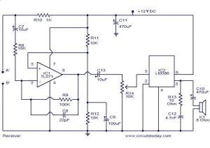 Audio monitoring system  Electronic Circuits and Diagrams