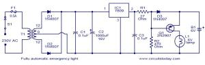 Automatic emergency light  Electronic Circuits and DiagramsElectronic Projects and Design