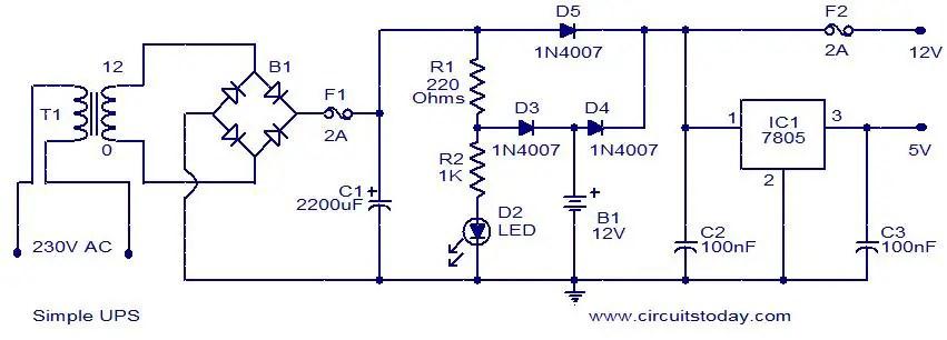 Superb Ups Internal Circuit Diagram Pdf Wiring Diagrams Schematics Wiring Digital Resources Remcakbiperorg