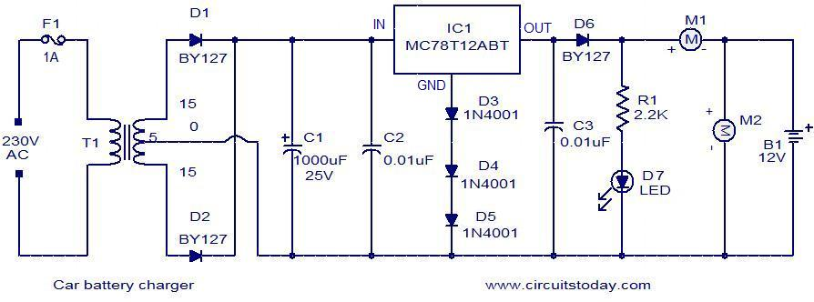 48v Golf Cart Wiring Diagram Car Battery Charger Electronic Circuits And Diagrams