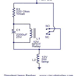 Wiring Diagram For Flasher Relay 2007 Dodge Caliber Horn Circuit All Data Simplest Lamp Electronic Circuits And Diagrams Standard
