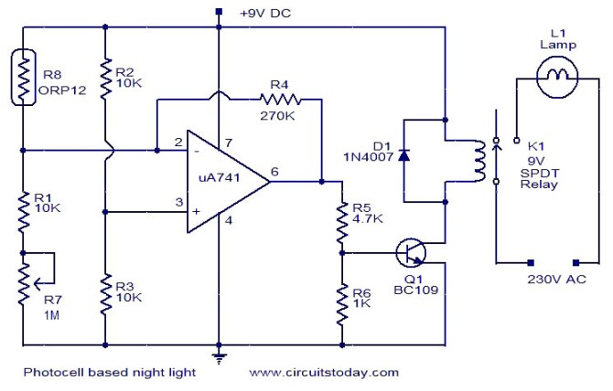 photocell sensor circuit diagram on photocell switch wiring