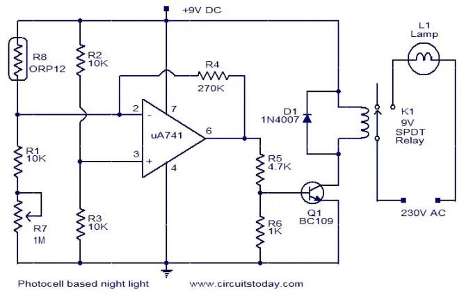 photocell based night light