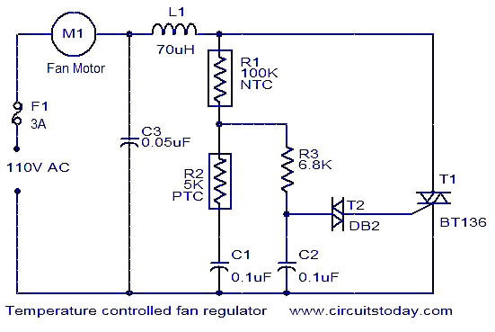 Temperature Controlled Fan Regulator Electronic Circuits And
