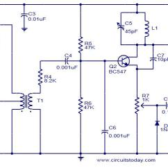 Fpv Transmitter Wiring Diagram 2006 Nissan X Trail Tv Circuit Using Only 2 Transistors Operates From 12v