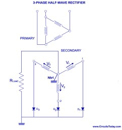 three phase half wave rectifier [ 970 x 970 Pixel ]