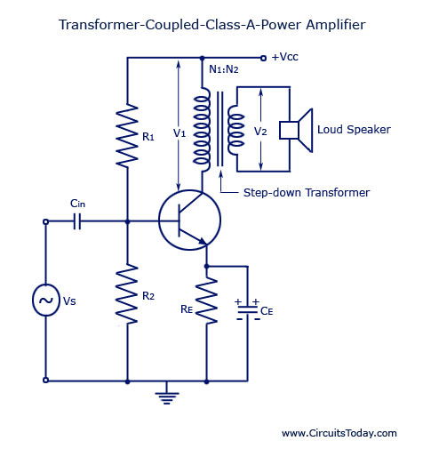 110 Volts Electric Motor Wiring Diagrams Transformer Coupled Class A Power Amplifier Electronic