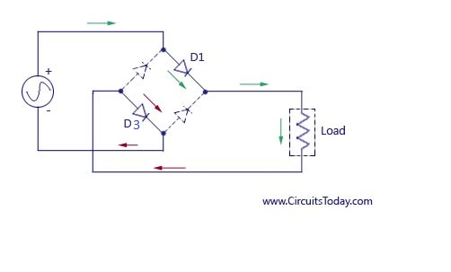 Full Wave Rectifier-Bridge Rectifier-Circuit Diagram with