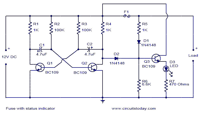 Fuse With Status Indicator Electronic Circuits And Diagram