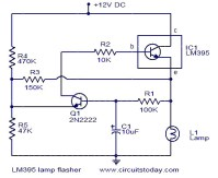Lamp flasher using LM395 - Electronic Circuits and ...