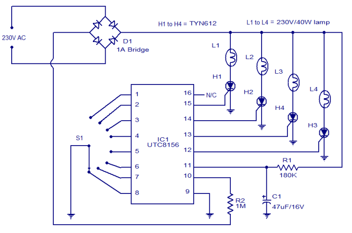 Led Christmas Lights Circuit Diagram