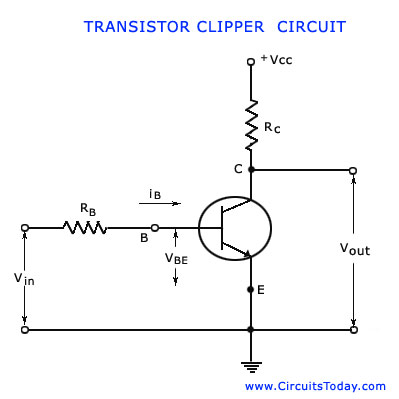 Transistor Clipping Circuit Working Circuit Diagram Waveforms