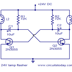 Electronic Flasher Unit Wiring Diagram Excretory System Labeled 24v Circuit Circuits And Diagrams