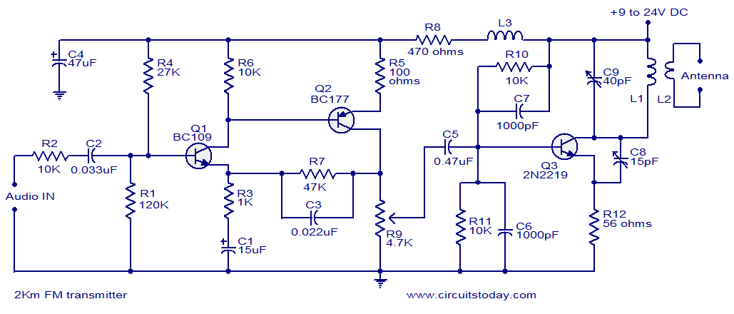 Schematic Diagram Electronic Fm Telephone Transmitter ... on